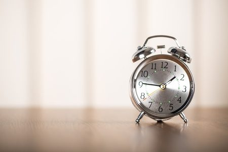 Sometimes all it takes is time Old fashioned alarm clock